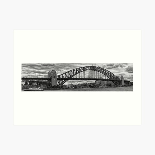 Sydney Harbour Bridge Panorama Art Print