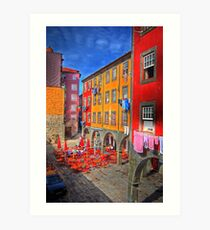 Courtyard of colour Art Print