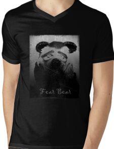Fear Bear Tee Mens V-Neck T-Shirt