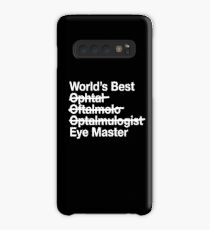 Gift for Ophthalmologist - Worlds Best Eye Master  Case/Skin for Samsung Galaxy