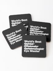 Gift for Ophthalmologist - Worlds Best Eye Master  Coasters