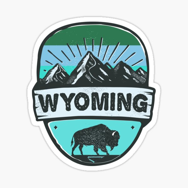 Wyoming Grand Teton National Park Bison Buffalo Cheyenne Casper Jackson Laramie Gillette Cody Sticker