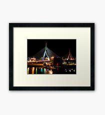 Boston's Zakim Bunker Hill Bridge Framed Print