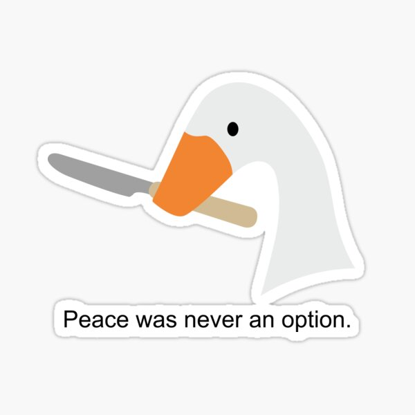 Untitled Goose Game Knife Sticker