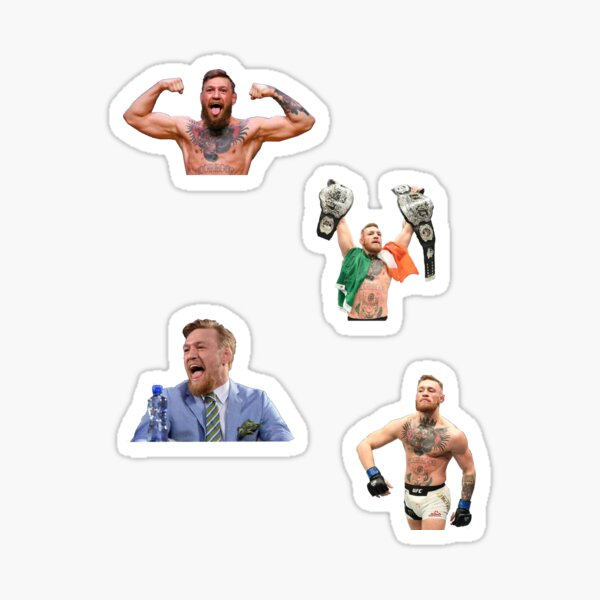 The Notorious Conor Mcgregor 4 pack Sticker