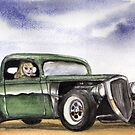 Green Hot Rod Girl by Lee Twigger