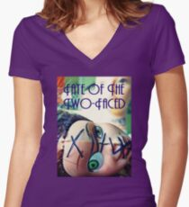Fate of the Two-Faced Tee Women's Fitted V-Neck T-Shirt