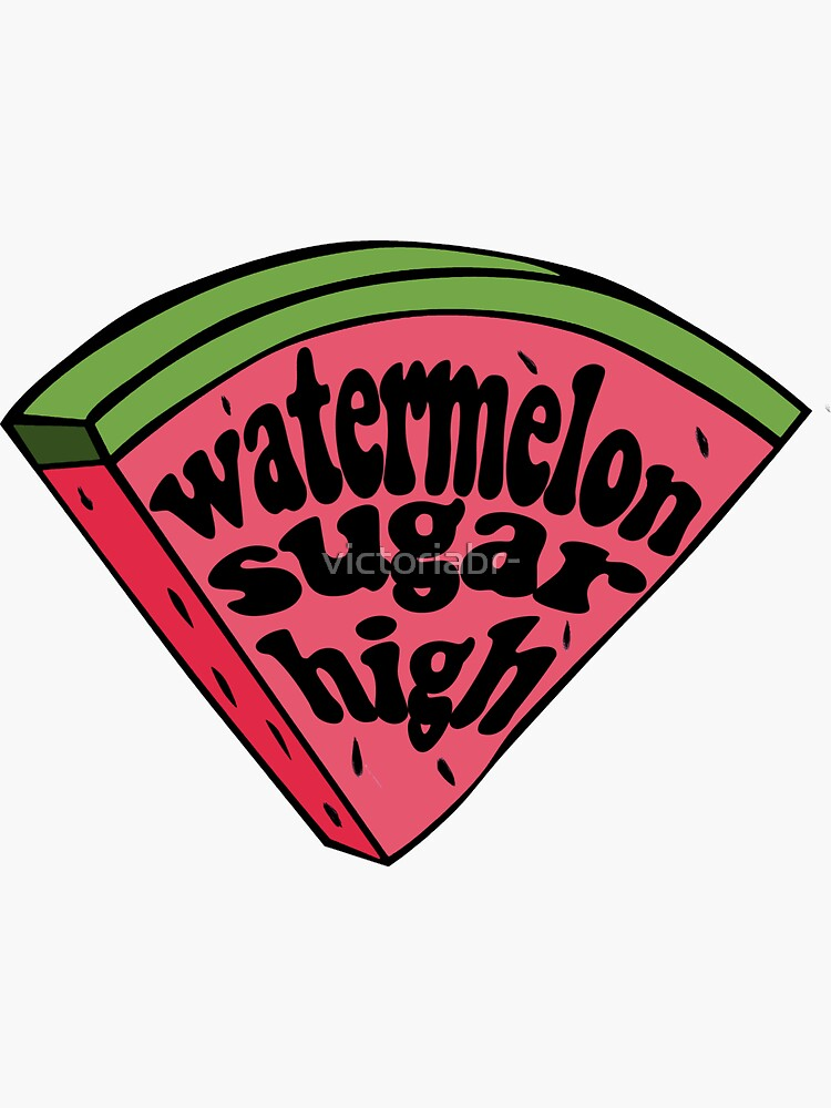 harry styles watermelon sugar (red melon slice) by victoriabr-