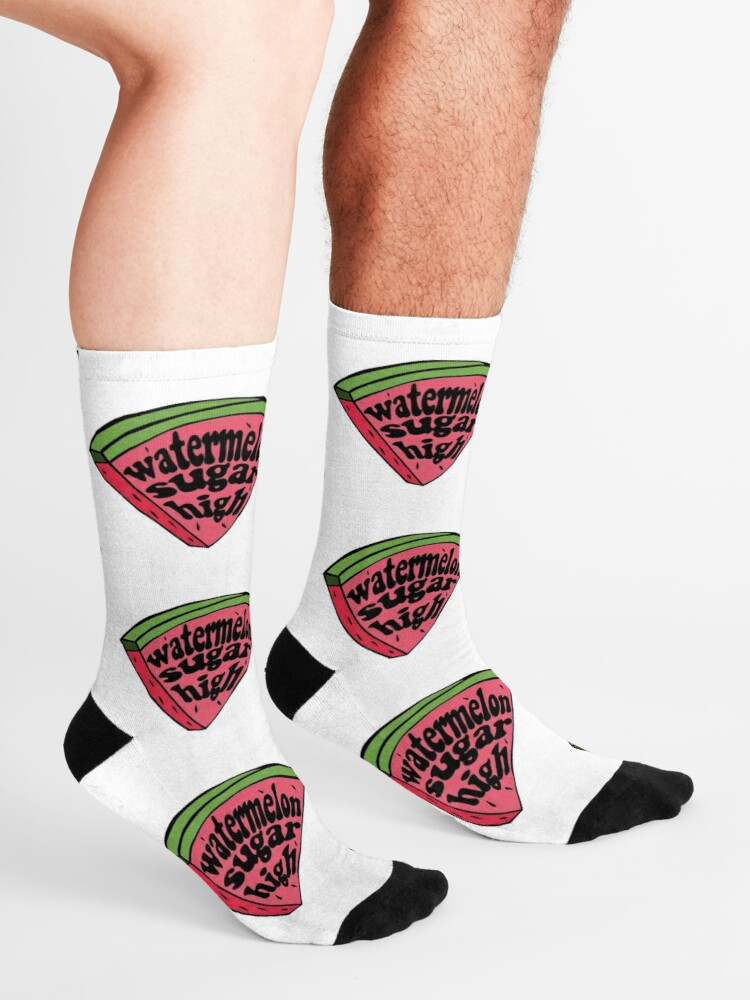 Alternate view of harry styles watermelon sugar (red melon slice) Socks