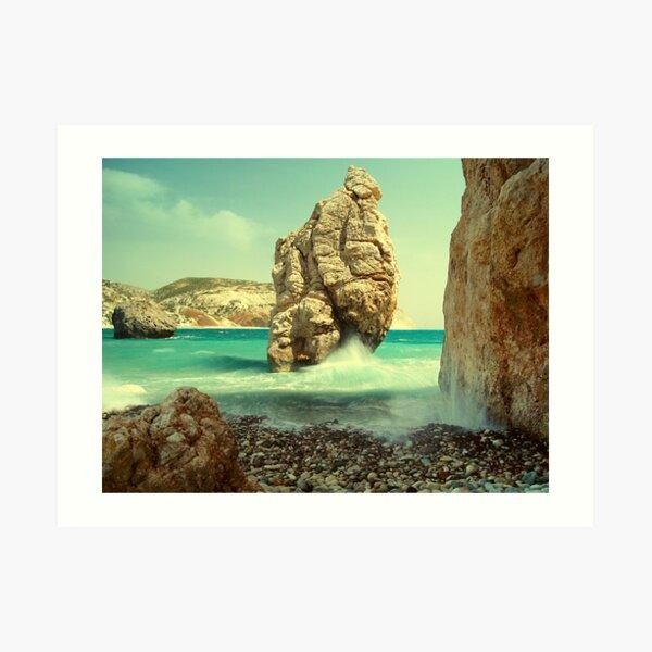 Aphrodite Rock, Cyprus Art Print