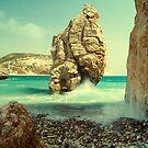 Aphrodite Rock, Cyprus by Aj Finan