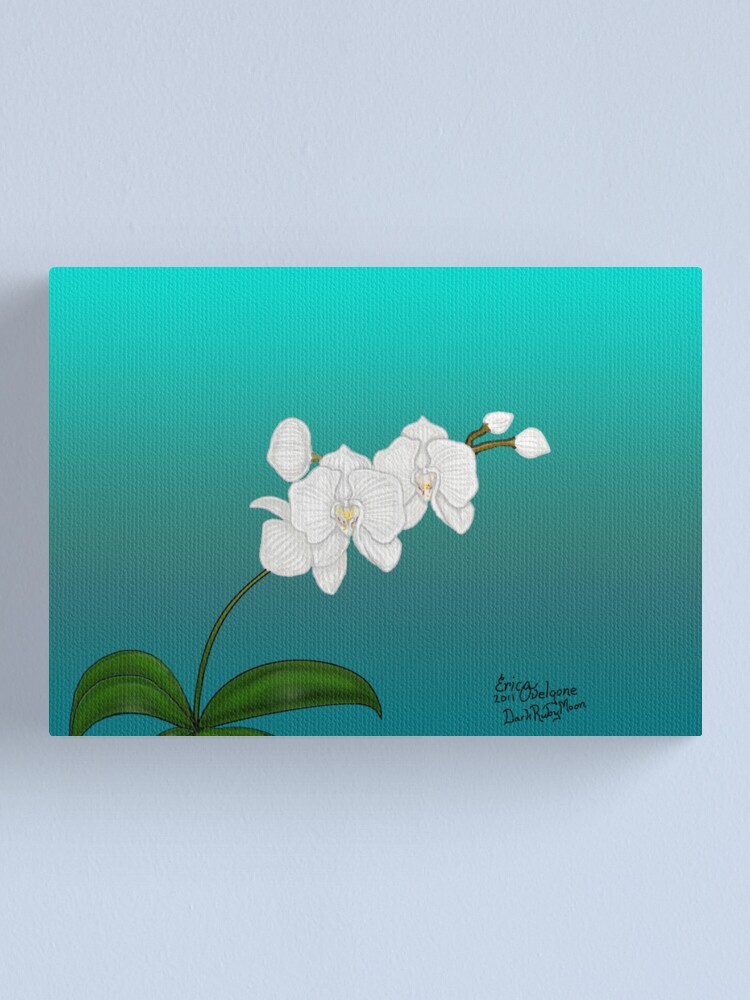 Alternate view of White Orchid Canvas Print