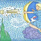 Asteria shoots a Star by DarkRubyMoon