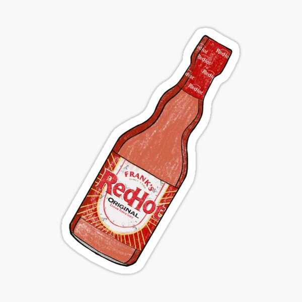 Let Me Be Frank's Red Hot Sauce Sticker