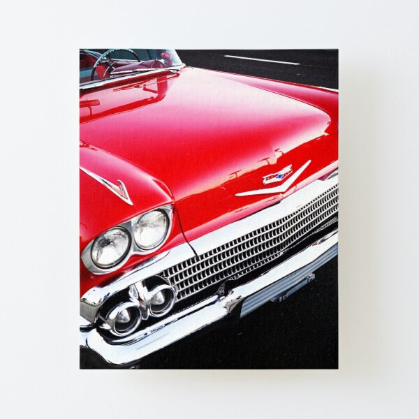 Red Chevy Canvas Mounted Print