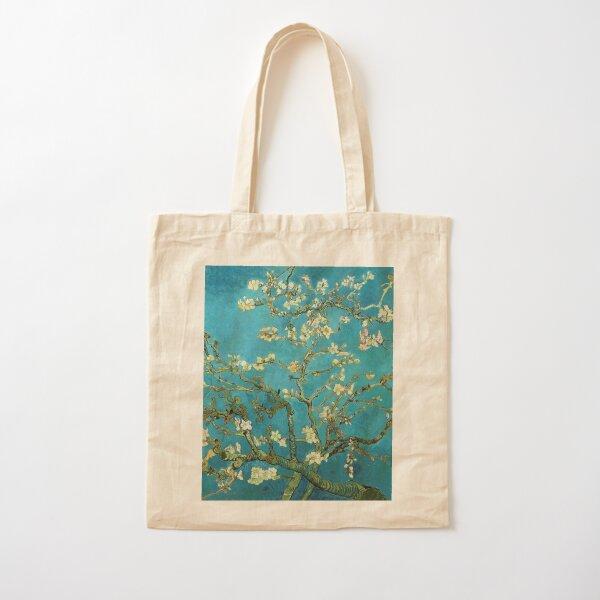 Vincent Van Gogh floreciente almendro Bolsa de algodón