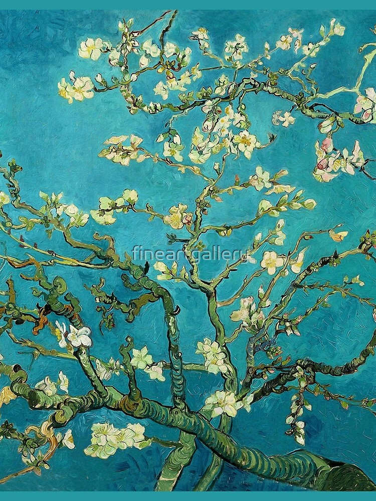 Vincent Van Gogh Blossoming Almond Tree by fineartgallery