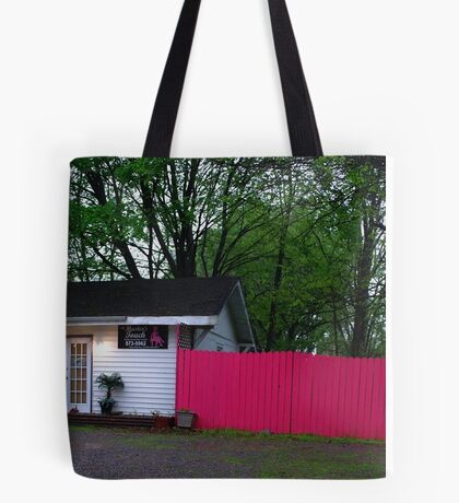 Pink Fence Tote Bag