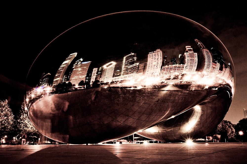Chicago Skyline in the Bean by danwa