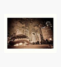 Chicago Skyline by night Art Print
