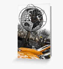 Yellow Taxi in New York City Greeting Card