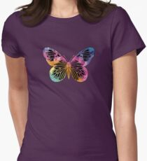 Butterfly Design Women's Fitted T-Shirt