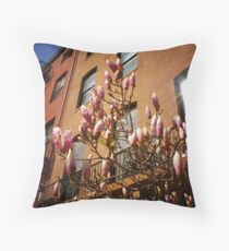 Spring Blossoms in New York City Throw Pillow