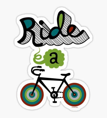 Ride a bike 3 Sticker