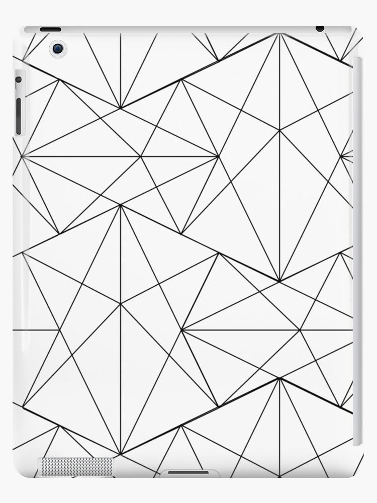 Black And White Asymmetrical Triangle Retro 80s Genx Aesthetic