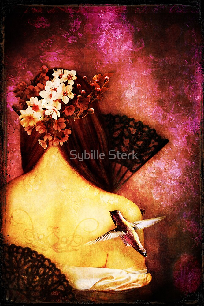 Girl With Hummingbird by Sybille Sterk