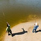 Fishing pair by Larry  Grayam
