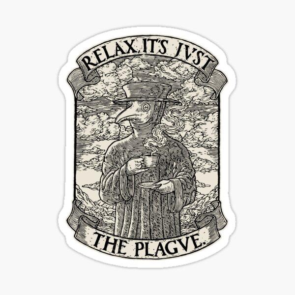 The Chillest Plague Doctor Sticker