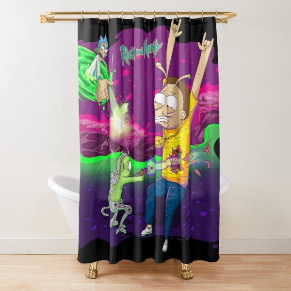 Morty Got Shot - Rick and Morty™ Shower Curtain