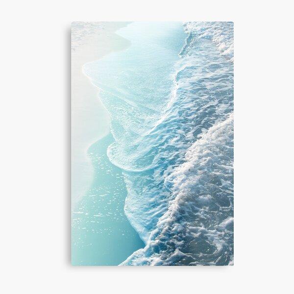 Suave turquesa Ocean Dream Waves # 1 #water #decor #art Lámina metálica