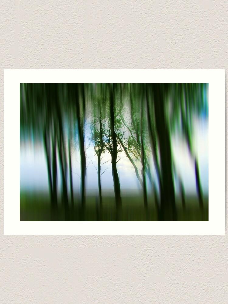 Alternate view of Morning Tree Silhouettes Art Print