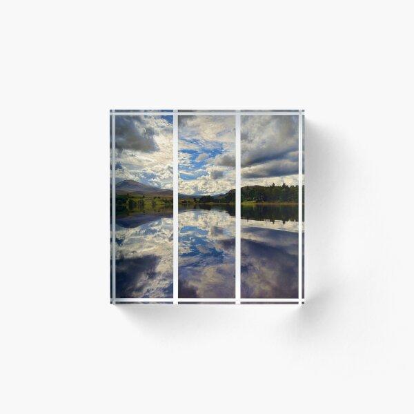 Water Reflections- Loch Rannoch-Highlands of Scotland(2) Acrylic Block