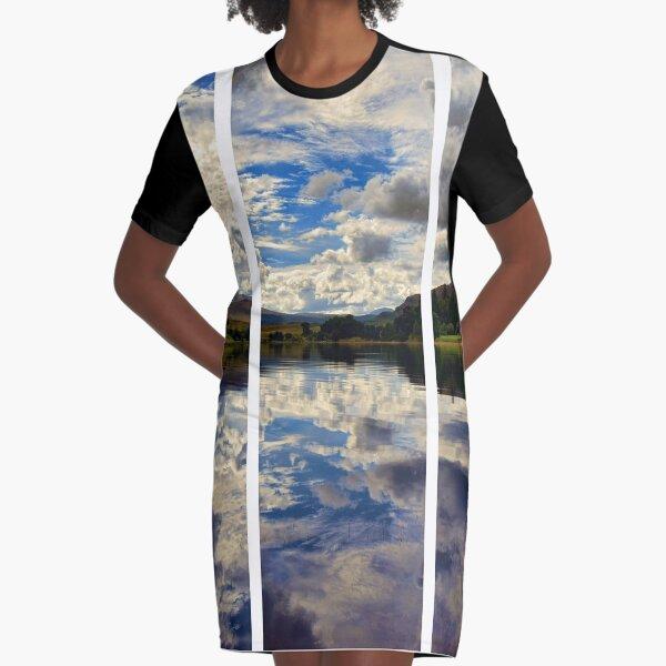 Water Reflections- Loch Rannoch-Highlands of Scotland(2) Graphic T-Shirt Dress