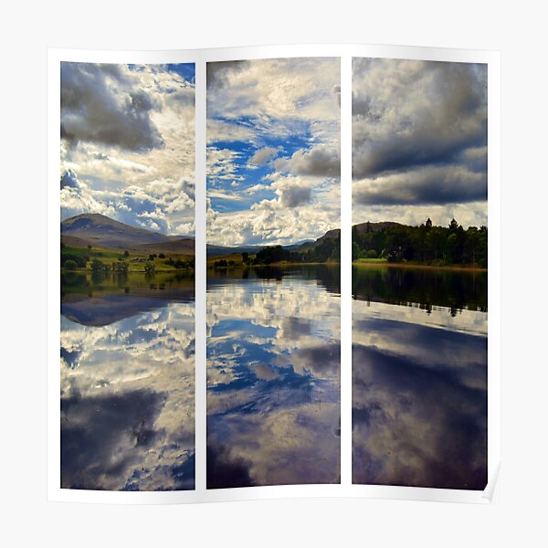 Water Reflections- Loch Rannoch-Highlands of Scotland(2) Poster