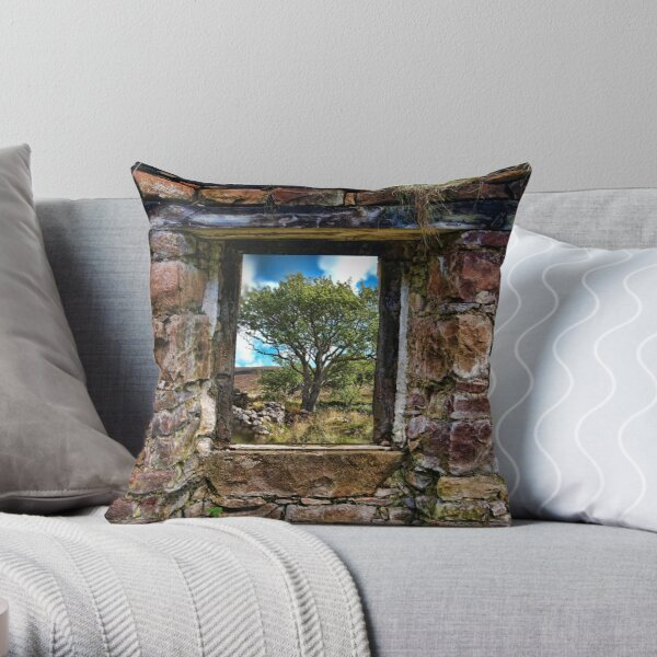 Cottage Window Throw Pillow