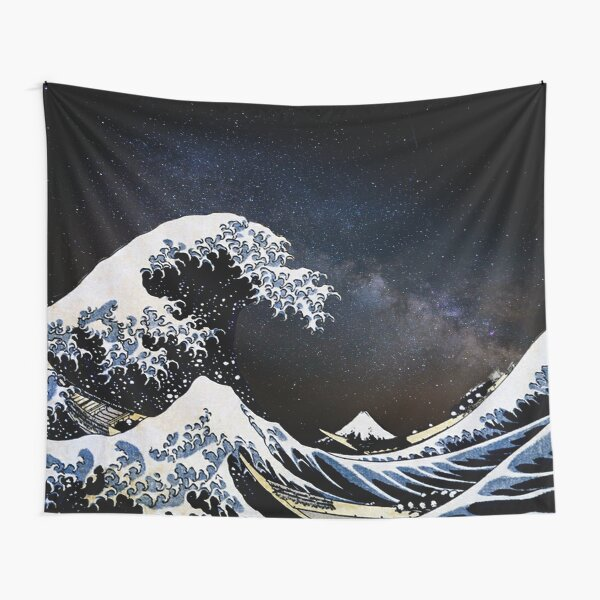 Kanagawa Wave in Space Tapestry