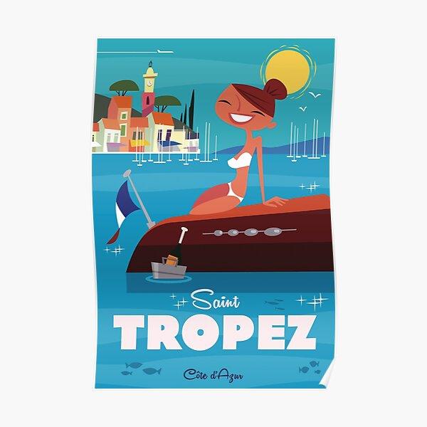 Affiche Saint Tropez Poster