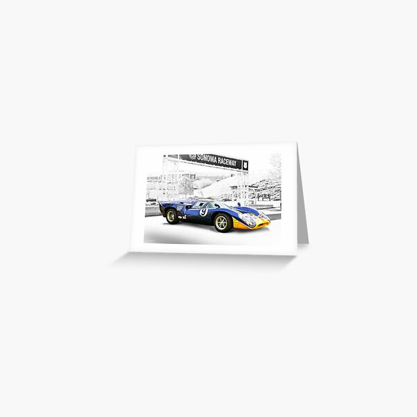 1969 Lola T70 Can Am Greeting Card