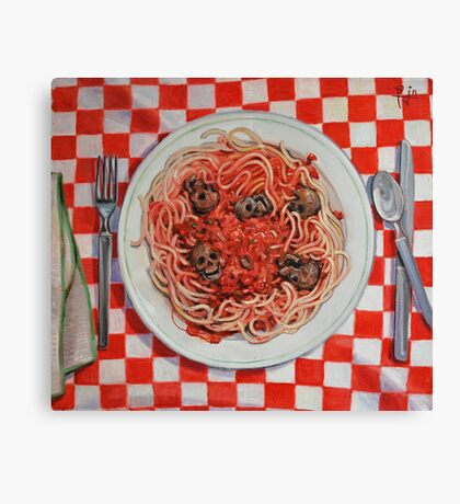 Albondigaphobia (Fear of Meatballs) Canvas Print