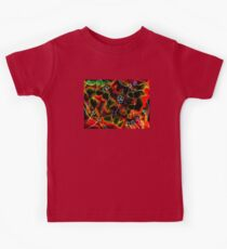 Evolution Mixed Media Collage - Colour Negative Image  Kids Tee