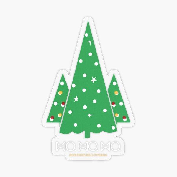 HO. HO. HO... Frohe Weihnachten Transparenter Sticker