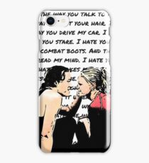 Ten Things I Hate About You Poem iPhone Case/Skin