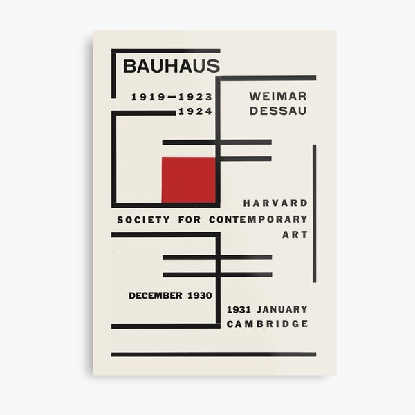 Bauhaus - Exhibition poster for Harvard Society for Contemporary Art, 1931 Metal Print