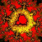 Red Mandelbrot II by Rupert Russell