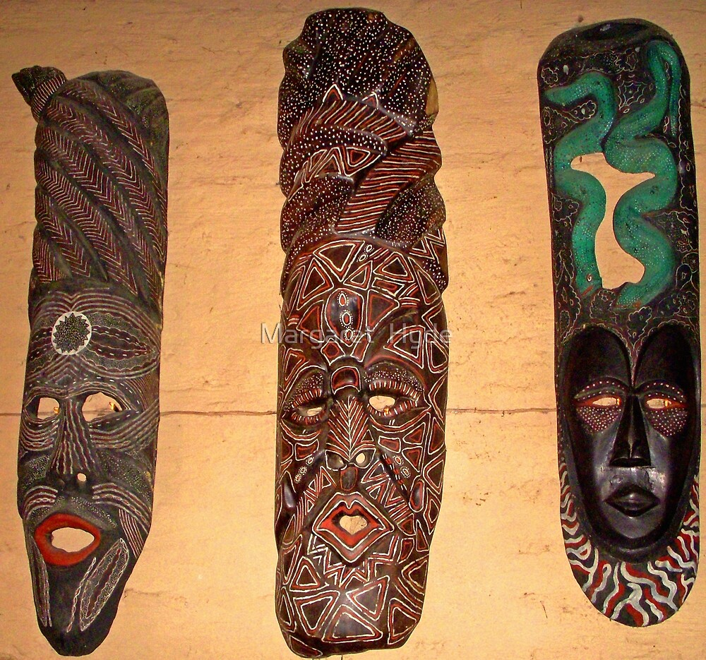 African Art, Boma, Victoria Falls, Zimbabwe by Margaret  Hyde