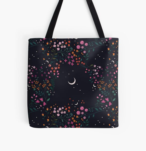 Midnight Garden All Over Print Tote Bag